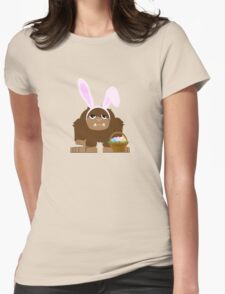 Cute Easter Bigfoot Womens Fitted T-Shirt