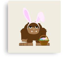 Cute Easter Bigfoot Canvas Print