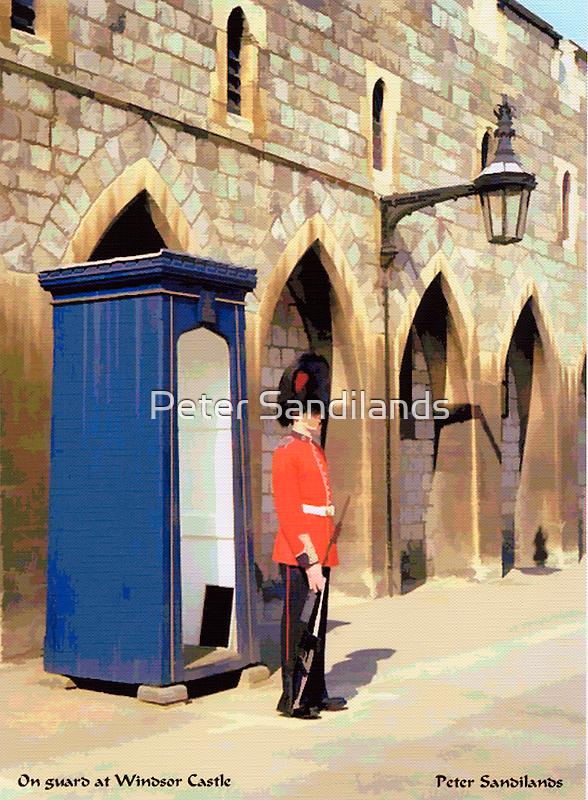On Guard at Windsor Castle by Peter Sandilands