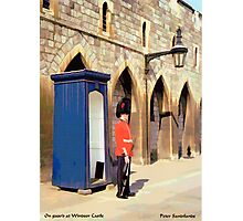 On Guard at Windsor Castle Photographic Print