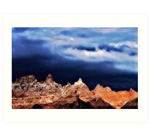 Badlands Peaks Art Print