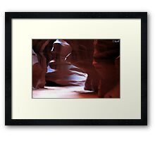 Antelope Canyon in Winter Framed Print