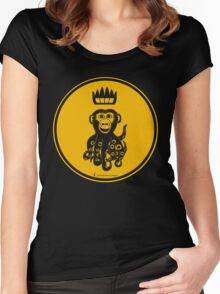 Octochimp - single colour Women's Fitted Scoop T-Shirt