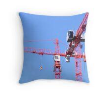 Tower Cranes Throw Pillow