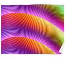 Rainbow fractal Poster