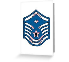 E-7 First Sergeant CA Ribbon Greeting Card
