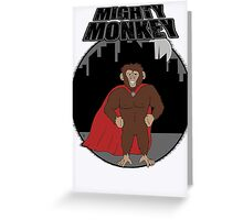 Mighty Monkey Greeting Card