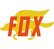 Fox (Star Fox) Orange Logo Photographic Print