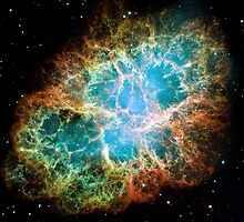 Hubble Space Telescope Print 0033 - A Giant Hubble Mosaic of the Crab Nebula  - hs-2005-37-a-full_jpg by wetdryvac