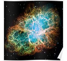 Hubble Space Telescope Print 0033 - A Giant Hubble Mosaic of the Crab Nebula  - hs-2005-37-a-full_jpg Poster