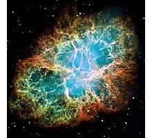Hubble Space Telescope Print 0033 - A Giant Hubble Mosaic of the Crab Nebula  - hs-2005-37-a-full_jpg Photographic Print