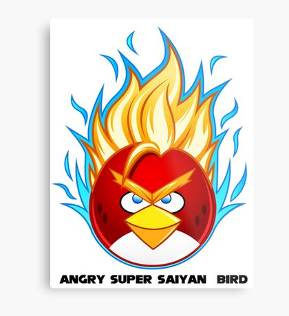 Angry Super Saiyan Bird Metal Print