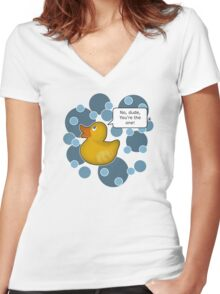 ♥ Rubber Ducky ♥ Women's Fitted V-Neck T-Shirt