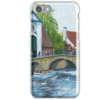 Canal cruise on Minnewater in Bruges/Brugge, Belgium iPhone Case/Skin