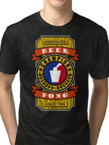 Undefeated Beer Pong Champion Tri-blend T-Shirt