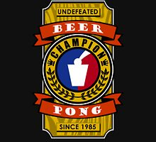 Undefeated Beer Pong Champion Mens V-Neck T-Shirt