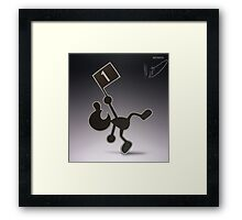 Mr. Game & Watch Framed Print