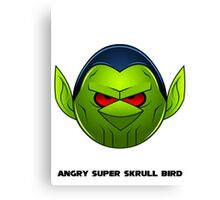 Angry Super Skrull Bird Canvas Print