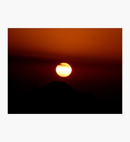 SUN SET Photographic Print