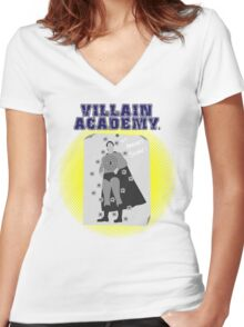 Villain Academy Women's Fitted V-Neck T-Shirt