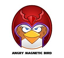 Angry Magnetic Bird  Photographic Print