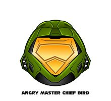 Angry Master Chief Bird Photographic Print