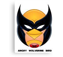 Angry Wolverine Bird Canvas Print