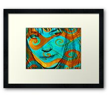 auto enhancement Framed Print