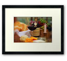 Wine V Framed Print