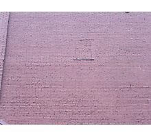 Brick non-window Photographic Print