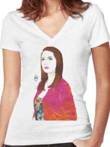 Community: Annie Edison Women's Fitted V-Neck T-Shirt