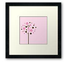 Pink Bubblegum Tree Framed Print