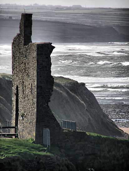 Ballybunion Castle and the Spring Tide by A90Six