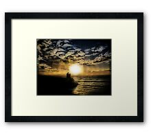 Concentric Silhouette Sunset Framed Print