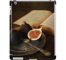 An old book and fresh figs iPad Case/Skin