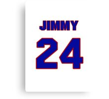 National baseball player Jimmy McMath jersey 24 Canvas Print
