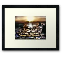 High Tide Sunset Framed Print