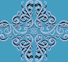 Ornamental in Blue  by ©Josephine Caruana