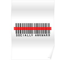 Socially Awkward RED BARCODE Poster