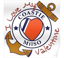 Love My Coastie Valentine Poster