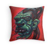 Shrunken Zombie Head Throw Pillow