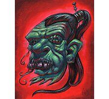 Shrunken Zombie Head Photographic Print