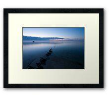 Fog Over The Bay Framed Print