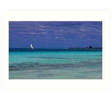 Lonely Saillor Art Print