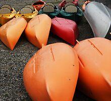 Orange Kayaks by Judi FitzPatrick