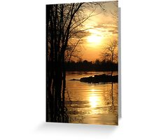 Liquid Gold Greeting Card