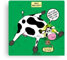Cow First Moo-lert Emergency Response System Canvas Print