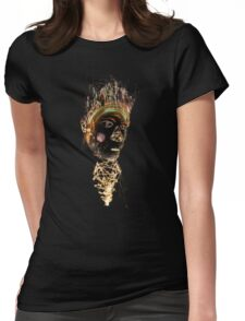 Tiki Fire God Womens Fitted T-Shirt