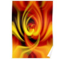Hot Love Flame Heart Poster