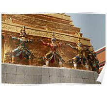 Bangkok Royal Palace Figures Poster